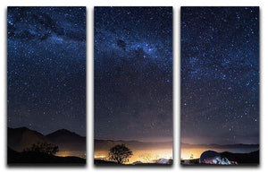 Milky Way over the Elqui Valley 3 Split Panel Canvas Print - Canvas Art Rocks - 1