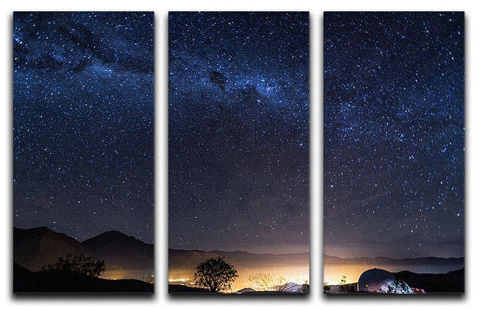 Milky Way over the Elqui Valley 3 Split Panel Canvas Print