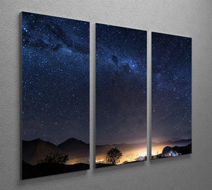 Milky Way over the Elqui Valley 3 Split Panel Canvas Print - Canvas Art Rocks - 2