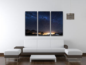 Milky Way over the Elqui Valley 3 Split Panel Canvas Print - Canvas Art Rocks - 3