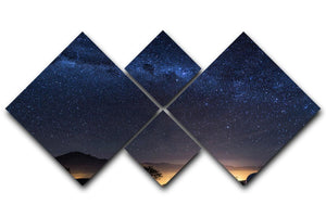Milky Way over the Elqui Valley 4 Square Multi Panel Canvas  - Canvas Art Rocks - 1