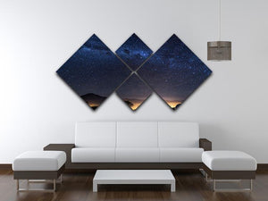 Milky Way over the Elqui Valley 4 Square Multi Panel Canvas - Canvas Art Rocks - 3
