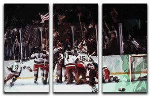 Miracle on Ice USA Ice Hockey Team 3 Split Panel Canvas Print - Canvas Art Rocks - 1