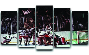 Miracle on Ice USA Ice Hockey Team 5 Split Panel Canvas  - Canvas Art Rocks - 1