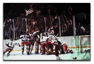 Miracle on Ice USA Ice Hockey Team Canvas Print or Poster  - Canvas Art Rocks - 1