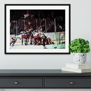 Miracle on Ice USA Ice Hockey Team Framed Print - Canvas Art Rocks - 1