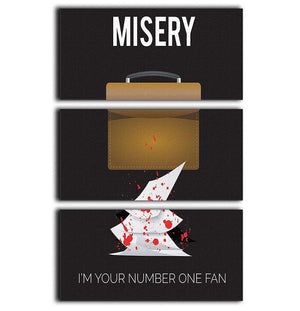 Misery Im Your Number One Fan Minimal Movie 3 Split Panel Canvas Print - Canvas Art Rocks - 1