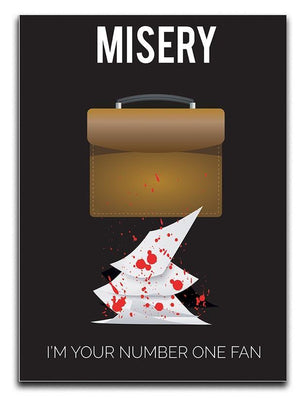 Misery Im Your Number One Fan Minimal Movie Canvas Print or Poster  - Canvas Art Rocks - 1