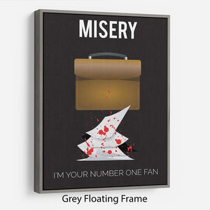 Misery Im Your Number One Fan Minimal Movie Floating Frame Canvas - Canvas Art Rocks - 3