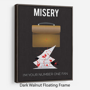 Misery Im Your Number One Fan Minimal Movie Floating Frame Canvas - Canvas Art Rocks - 5