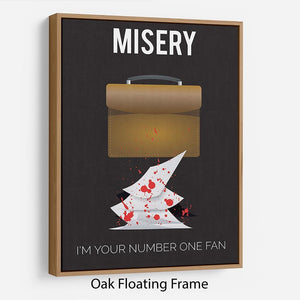 Misery Im Your Number One Fan Minimal Movie Floating Frame Canvas - Canvas Art Rocks - 9
