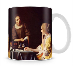 Mistress and maid by Vermeer Mug - Canvas Art Rocks - 1
