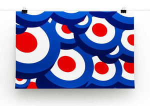Mod Target Repeating Pattern Print - Canvas Art Rocks - 2