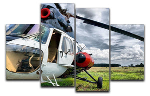 Modern light helicopter 4 Split Panel Canvas  - Canvas Art Rocks - 1