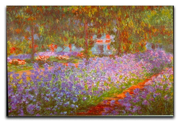 Monet's Garden by Monet Canvas Print or Poster