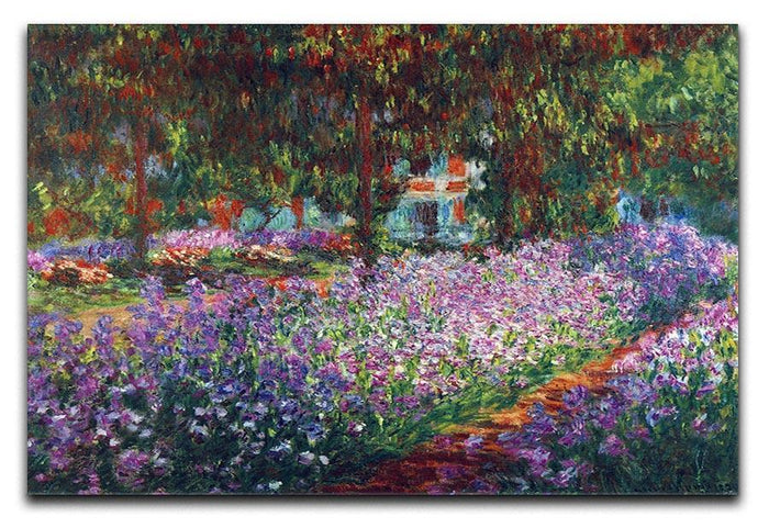 Monet's garden in Giverny by Monet Canvas Print or Poster