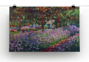 Monet's garden in Giverny by Monet Canvas Print & Poster - Canvas Art Rocks - 2
