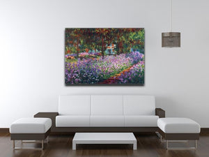Monet's garden in Giverny by Monet Canvas Print & Poster - Canvas Art Rocks - 4