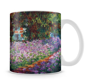 Monet's garden in Giverny by Monet Mug - Canvas Art Rocks - 4