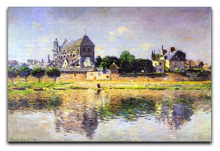Monets garden in Vetheuil by Monet Canvas Print or Poster