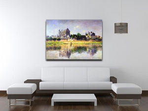 Monets garden in Vetheuil by Monet Canvas Print & Poster - Canvas Art Rocks - 4