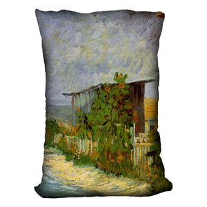 Montmartre Path with Sunflowers by Van Gogh Throw Pillow