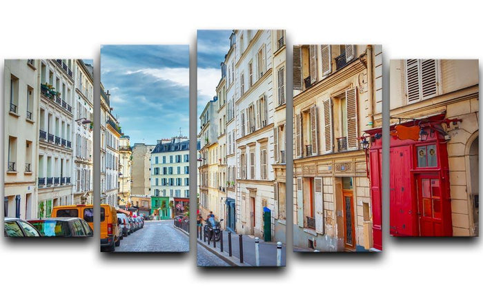 Montmartre in Paris 5 Split Panel Canvas