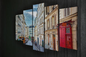Montmartre in Paris 5 Split Panel Canvas  - Canvas Art Rocks - 2
