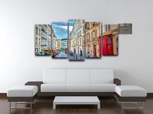 Montmartre in Paris 5 Split Panel Canvas  - Canvas Art Rocks - 3