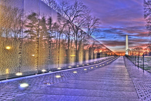 Monument at sunrise Wall Mural Wallpaper - Canvas Art Rocks - 1