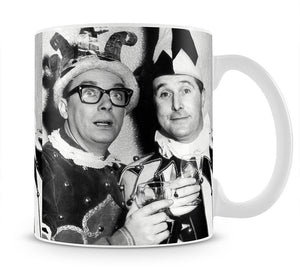 Morecambe and Wise dressed as court jesters Mug - Canvas Art Rocks - 1