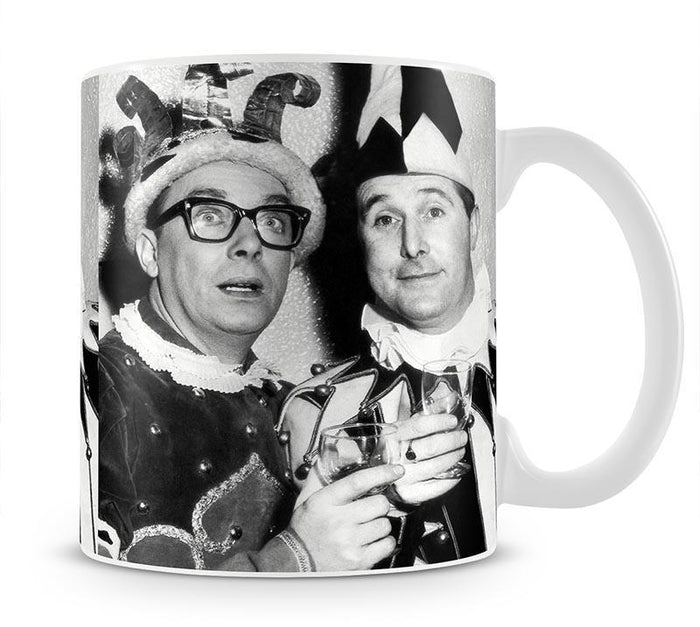 Morecambe and Wise dressed as court jesters Mug