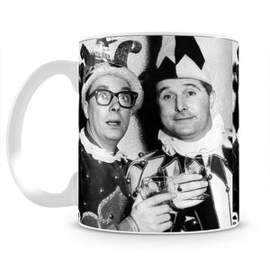 Morecambe and Wise dressed as court jesters Mug - Canvas Art Rocks - 2