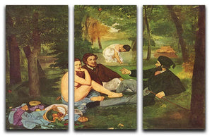 Morning Break by Manet 3 Split Panel Canvas Print - Canvas Art Rocks - 1
