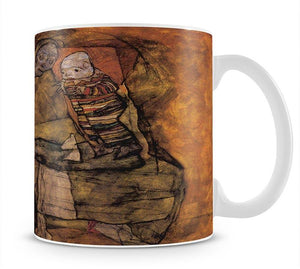 Mother with two children by Egon Schiele Mug - Canvas Art Rocks - 1