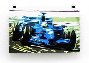 Formula One Racing Car Print - Canvas Art Rocks - 3