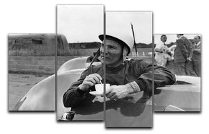 Motor racing driver Stirling Moss 4 Split Panel Canvas  - Canvas Art Rocks - 1