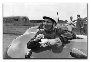 Motor racing driver Stirling Moss Canvas Print or Poster  - Canvas Art Rocks - 1