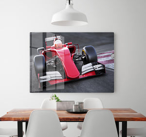 Motor sports race car HD Metal Print