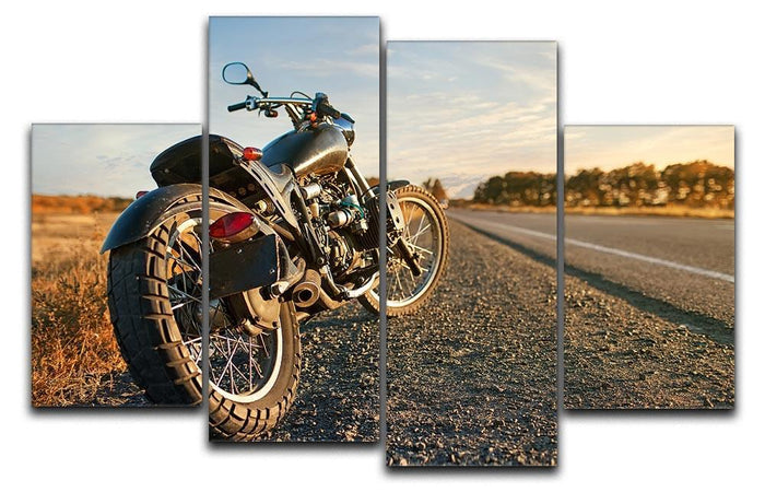 Motorbike under the clear sky 4 Split Panel Canvas
