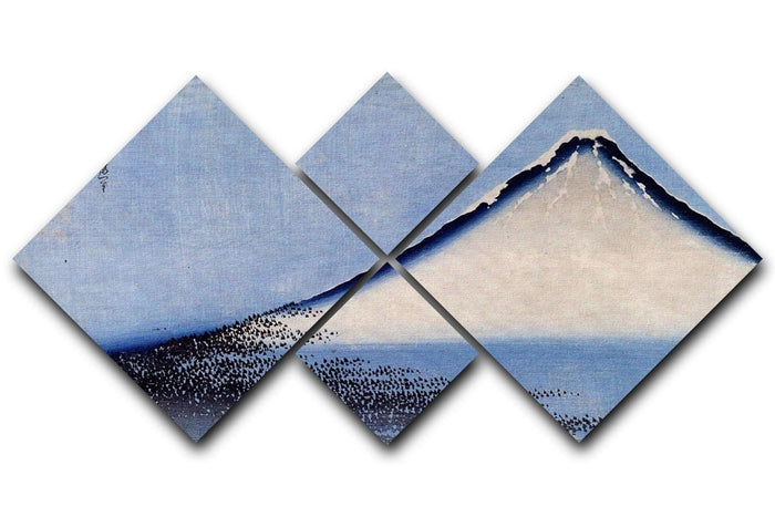 Mount Fuji 2 by Hokusai 4 Square Multi Panel Canvas