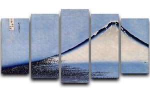 Mount Fuji 2 by Hokusai 5 Split Panel Canvas  - Canvas Art Rocks - 1