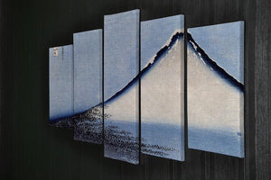 Mount Fuji 2 by Hokusai 5 Split Panel Canvas - Canvas Art Rocks - 2