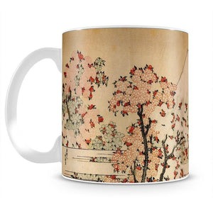Mount Fuji behind cherry trees and flowers by Hokusai Mug - Canvas Art Rocks - 2