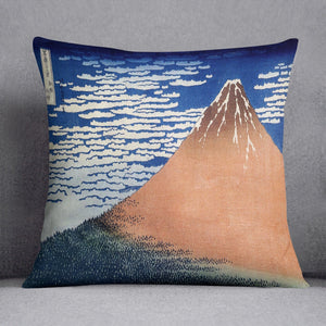Mount Fuji by Hokusai Throw Pillow