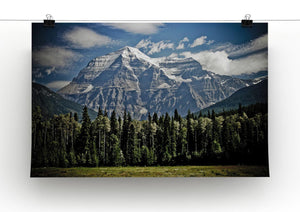 Mountain With Trees Print - Canvas Art Rocks - 2