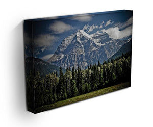 Mountain With Trees Print - Canvas Art Rocks - 3