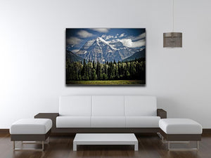 Mountain With Trees Print - Canvas Art Rocks - 4