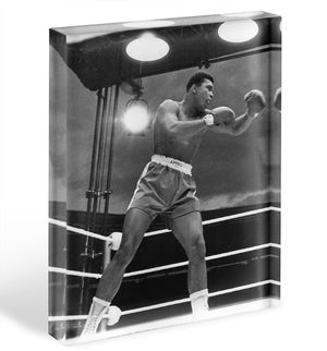 Muhammad Ali 1963 Acrylic Block - Canvas Art Rocks - 1