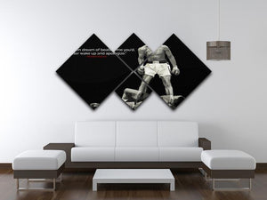 Muhammad Ali Dream Of Beating Me 4 Square Multi Panel Canvas - Canvas Art Rocks - 3